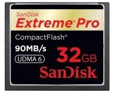SanDisk  Extreme Pro Compact Flash Memory Card UDMA 32GB Up to 90MB/s