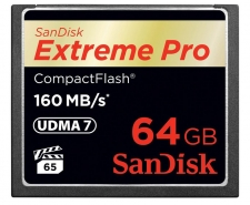 SanDisk Extreme Pro Compact Flash Card 64GB Up to 160MB/s SDCFXPS-064G