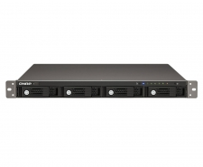QNAP TS-421U 4-Bay iSCSI Hot-Swappable Marvell 2.0GHz CPU 1GB RAM NAS