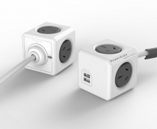 Allocacoc PowerCube Extended USB - 4 Power Outlets + 2 USB ports